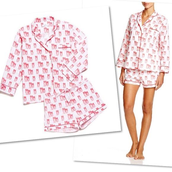 Marigot Collection Tomato Owl Short Pajama Set M. M 5abecfaa9a94553ff2656777 a1e54913c